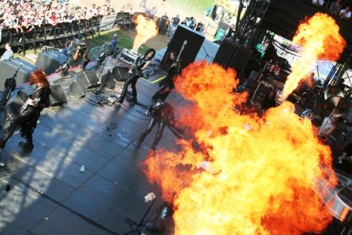 X Japan at Lollapalooza (Fire)