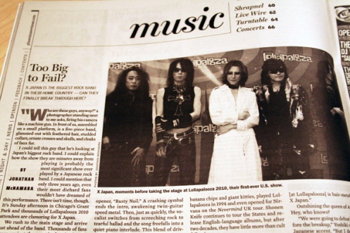 X Japan in Phoenix New Times